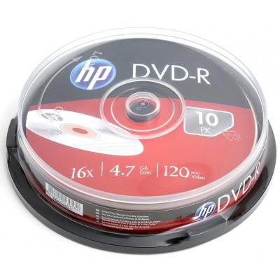 DVD-R HP 4.7GB 16x 10pcs/spindle (69315/DME00026-3)