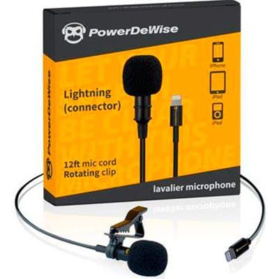 Микрофон петличный POWERDEWISE Lavalier Lapel Microphone with Lightning Connector (PDWLC)