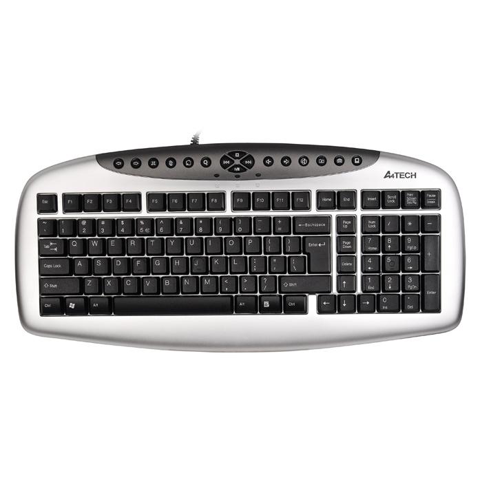 Клавiатура A4TECH KB-21 USB Black/Silver