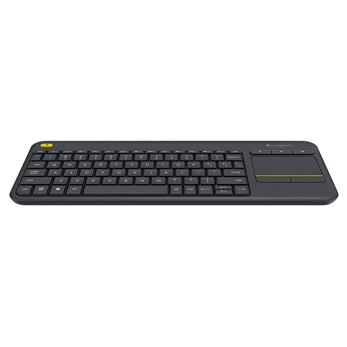 Клавіатура бездротова LOGITECH K400 Plus Wireless Touch Black (920-007147)