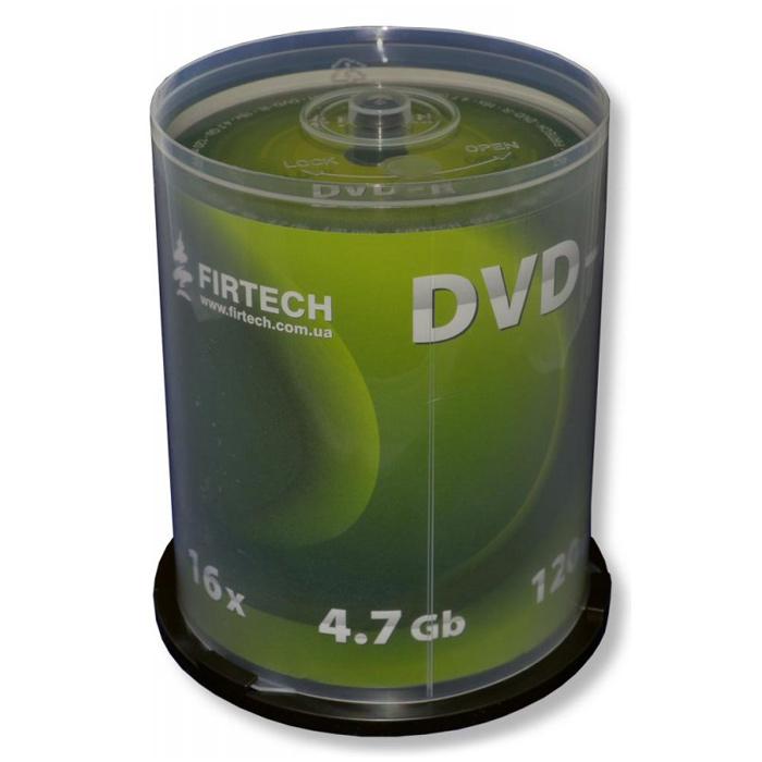 DVD-R FIRTECH 120min/4.7GB Matt Silver 16x (сake 100шт)