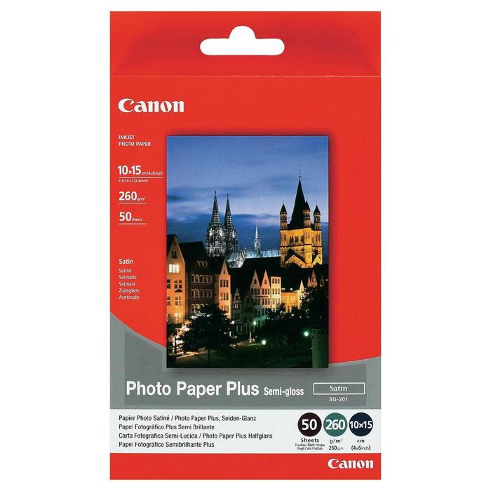 Фотопапір CANON Photo Plus Semi-gloss SG-201 10x15см 260г/м² 50л (1686B015)