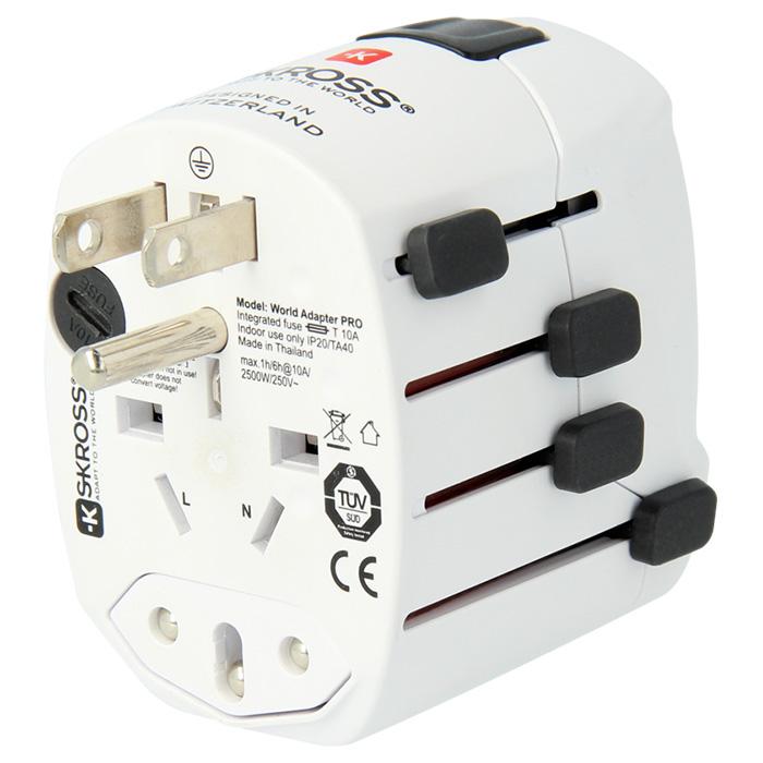 Сетевое зарядное устройство SKROSS World Adapter Pro