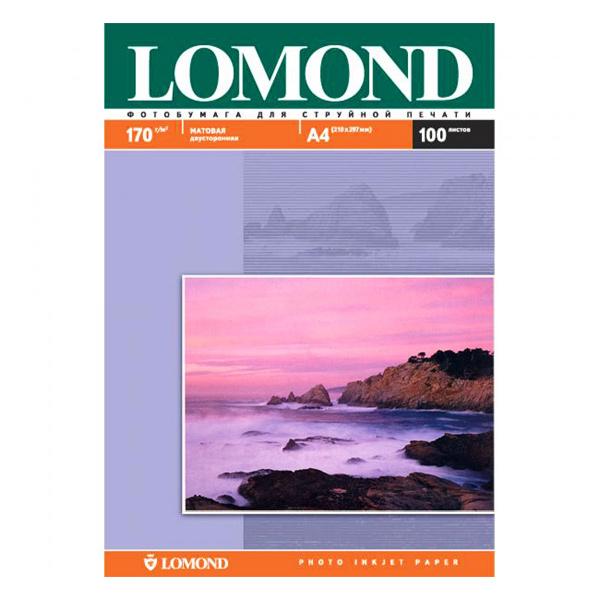 Папір матовий двосторонній LOMOND A4, 170 г/м2, 100 л.