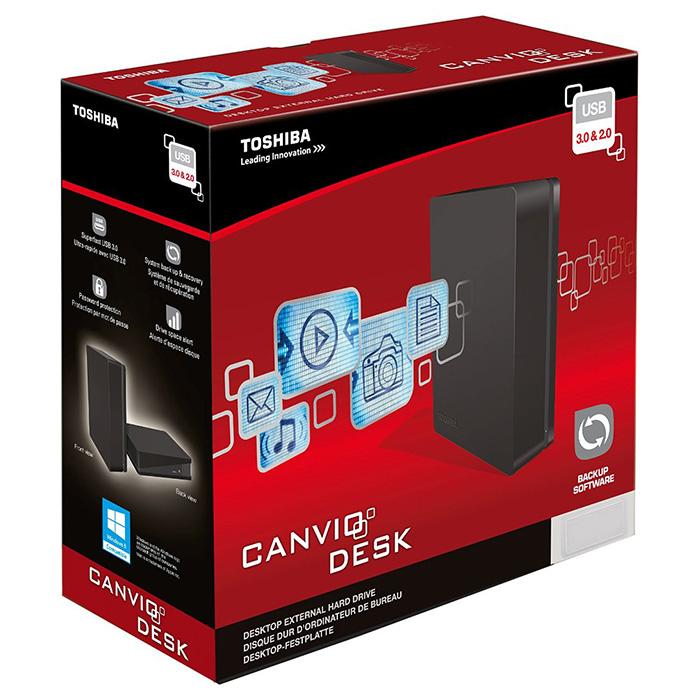"""Внешний винчестер 3.5"""" TOSHIBA Canvio Desktop 2TB USB3.0 Black (HDWC120PK3JA)"""