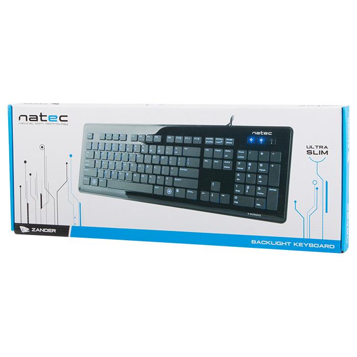 Клавіатура NATEC Zander Backlight RUS Black (NKL-0460)