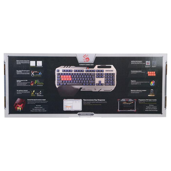 Клавіатура A4-Tech BLOODY B418 Black