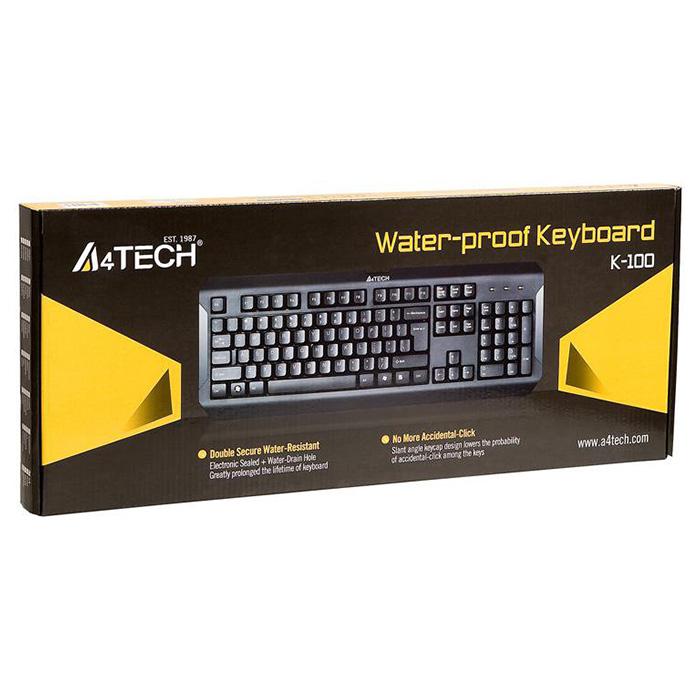 Клавіатура A4TECH K-100 Black