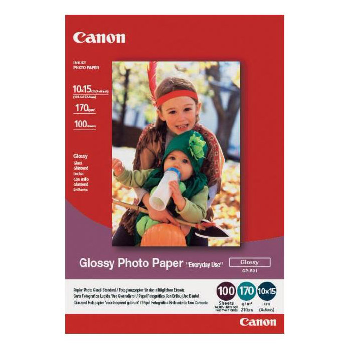 Фотопапір CANON Glossy Photo GP-501 10x15см 170г/м² 100л (0775B003)