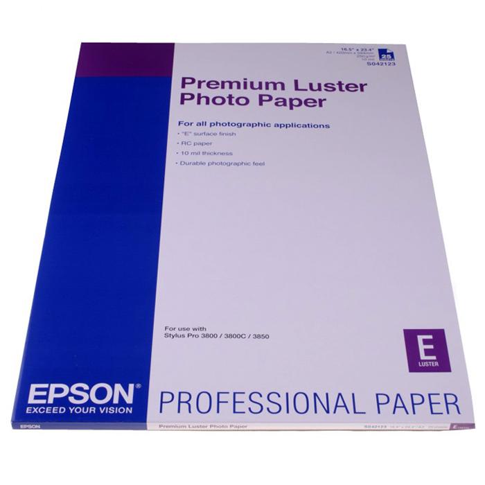 Фотопапір EPSON Premium Luster A2 250г/м² 25л (C13S042123)