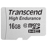 Карта памяти TRANSCEND microSDHC High Endurance 16GB Class 10 + SD-adapter (TS16GUSDHC10V)