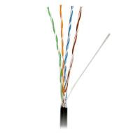Кабель сетевой для наружной прокладки ATCOM UTP Cat.5e Standard 4x2x0.50 ССА Black 305м (10699)