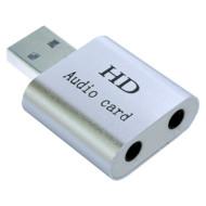 Зовнішня звукова карта DYNAMODE USB-Sound7.1 Silver