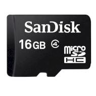 Карта памяти SANDISK microSDHC 16GB Class 4 (SDSDQM-016G-B35)