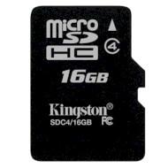 Карта памяти KINGSTON microSDHC 16GB Class 4 (SDC4/16GBSP)