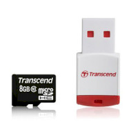 Карта памяти TRANSCEND microSDHC 8GB Class 10 (TS8GUSDHC10-P3)