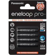 Аккумулятор PANASONIC Eneloop Pro AAA 930mAh 4шт/уп (BK-4HCDE/4BE)