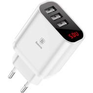 Сетевое зарядное устройство BASEUS Wall Charger 3.4A Mirror Lake White