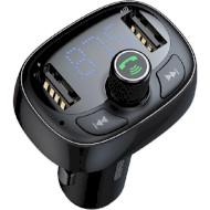 FM-трансмиттер BASEUS T-typed MP3 Car Charger Black (CCALL-TM01)
