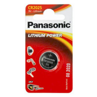 Батарейка PANASONIC CR 2025 LITHIUM CR2025 165 мАч (CR-2025EL/1B)