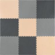 Коврик для силовых тренировок 4FIZJO Puzzle Mat Black/Grey/Biege (4FJ0158)