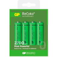 Аккумулятор GP ReCyko+ AA 2700мАч 4шт/уп (GP270AAHCE-2GBE4)