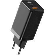 Зарядний пристрій BASEUS GaN2 Pro Quick Charger 2C+U 65W Black (CCGAN2P-B01)