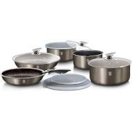 Набор посуды BERLINGER HAUS Metallic Line Carbon Edition 9пр (BH-6148)