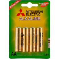 Батарейка MITSUBISHI ELECTRIC Alkaline AA 4шт/уп (LR6/4BP)