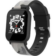 Часы-телефон детские CANYON MyDino Black Camo (CNE-KW33BB)