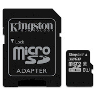 Карта памяти KINGSTON microSDHC 32GB UHS-I Class 10 + SD-adapter (SDC10G2/32GB)
