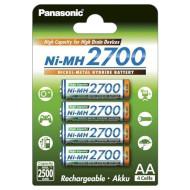 Аккумулятор PANASONIC High Capacity AA 2700мАч 4шт/уп (BK-3HGAE/4BE)