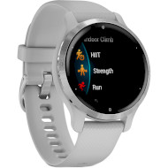 Смарт-годинник GARMIN Venu 2S Silver Stainless Steel Bezel with Mist Gray Case and Silicone Band (010-02429-12)
