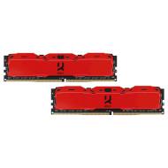 Модуль пам'яті GOODRAM IRDM X Red DDR4 3200MHz 16GB Kit 2x8GB (IR-XR3200D464L16SA/16GDC)