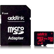 Карта пам'яті ADDLINK microSDXC Professional 256GB UHS-I U3 V30 A1 Class 10 + SD-adapter (AD256GBMSXU3A)