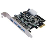 Контроллер STLAB U-1270 PCI-E to USB 3.0 4-Ports