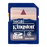 Карта памяти KINGSTON SDHC 16GB Class 4 (SD4/16GB)