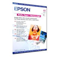 Бумага EPSON Matte Heavyweight A3 167г/м² (C13S041261)