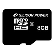 Карта памяти SILICON POWER microSDHC 8GB Class 10 (SP008GBSTH010V10)