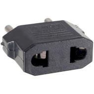 Переходник сетевой POWERPLANT US to EU Black (DV00DV0022)