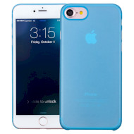 Чехол-накладка MOMAX Membrane 0.3mm Super slim для iPhone 7 Blue