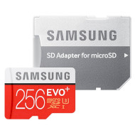 Карта памяти SAMSUNG microSDXC EVO Plus 256GB UHS-I U3 Class 10 + SD-adapter (MB-MC256DA/RU)