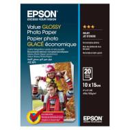 Фотопапір EPSON Value Glossy 10x15см 183г/м² 20л (C13S400037)