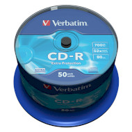 CD-R VERBATIM Extra Protection 700MB 52x 80min 50pcs/spindle (43351)