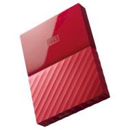 Портативный жёсткий диск WD My Passport 1TB USB3.0 Red (WDBYNN0010BRD-WESN)