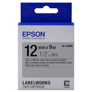 Лента EPSON LK-4SBM 12mm Black on Silver Metallic (C53S654019)