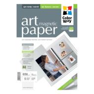 Бумага магнитная COLORWAY Art Magnetic A4 650г/м² 5л (PMA650005MA4)