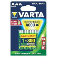 Аккумулятор VARTA Rechargeable Accu AAA 1000мАч 4шт/уп (05703 301 404)