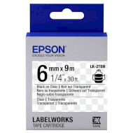 Лента EPSON LK-2TBN 6mm Black on Clear (C53S652004)