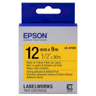 Лента EPSON LK-4YBW 12mm Black on Yellow Strong Adhesive (C53S654014)